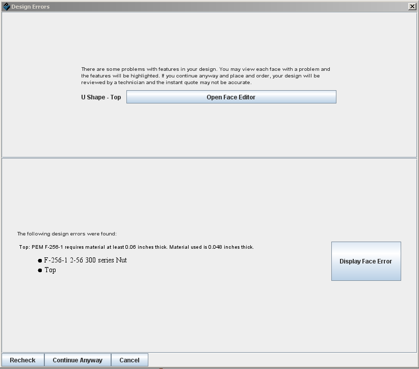 File:Design errors dialog NEW png - Protocase Designer